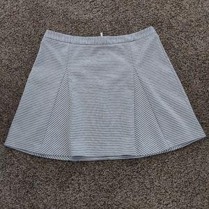 Michael Kors Gray and White Stripe Skirt